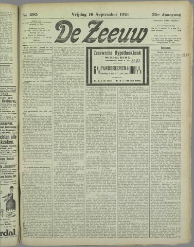 De Zeeuw. Christelijk-historisch nieuwsblad voor Zeeland 1921-09-16