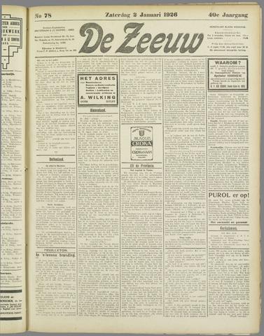 De Zeeuw. Christelijk-historisch nieuwsblad voor Zeeland 1926