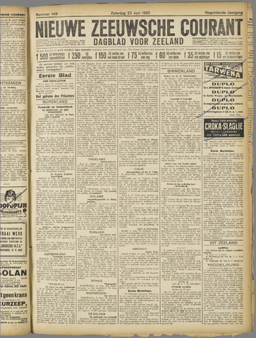 Nieuwe Zeeuwsche Courant 1923-06-23