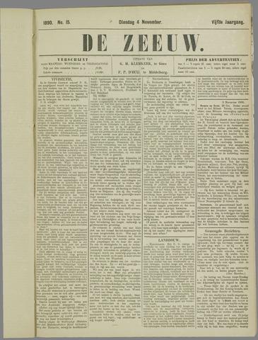 De Zeeuw. Christelijk-historisch nieuwsblad voor Zeeland 1890-11-04