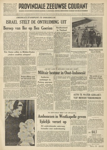 Provinciale Zeeuwse Courant 1957-03-04