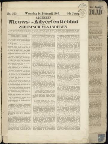 Ter Neuzensche Courant. Algemeen Nieuws- en Advertentieblad voor Zeeuwsch-Vlaanderen / Neuzensche Courant ... (idem) / (Algemeen) nieuws en advertentieblad voor Zeeuwsch-Vlaanderen 1866-02-14