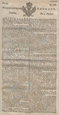 Middelburgsche Courant 1779-08-03