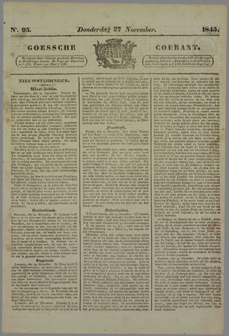 Goessche Courant 1845-11-27