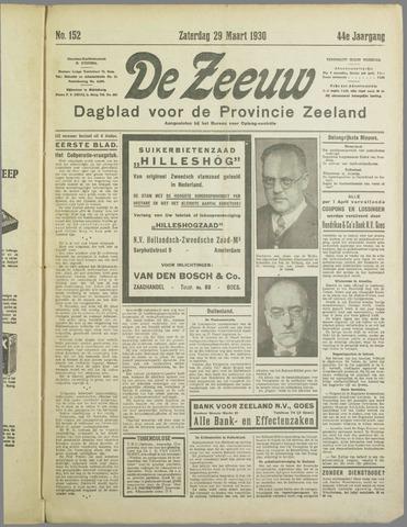 De Zeeuw. Christelijk-historisch nieuwsblad voor Zeeland 1930-03-29