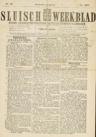Sluisch Weekblad. Nieuws- en advertentieblad voor Westelijk Zeeuwsch-Vlaanderen 1875-08-20