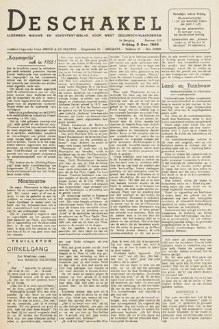 De Schakel 1954-12-03