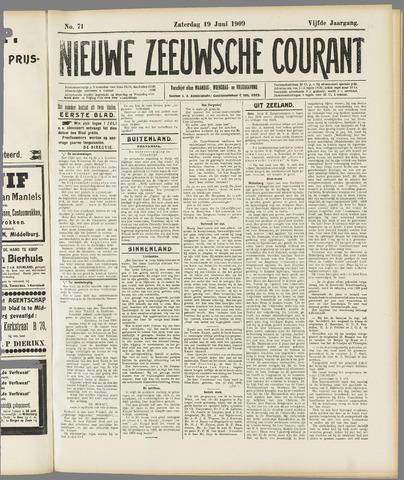 Nieuwe Zeeuwsche Courant 1909-06-19