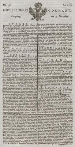 Middelburgsche Courant 1777-12-09