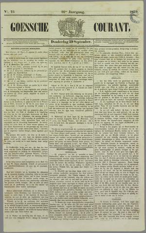 Goessche Courant 1859-09-29
