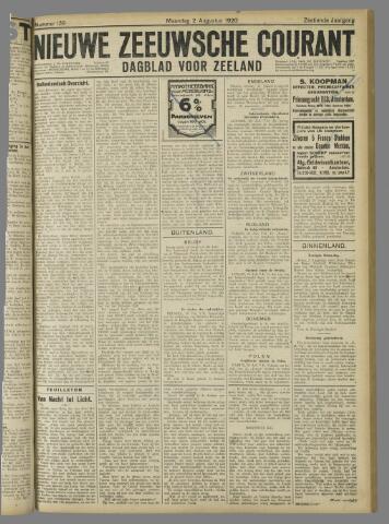 Nieuwe Zeeuwsche Courant 1920-08-02