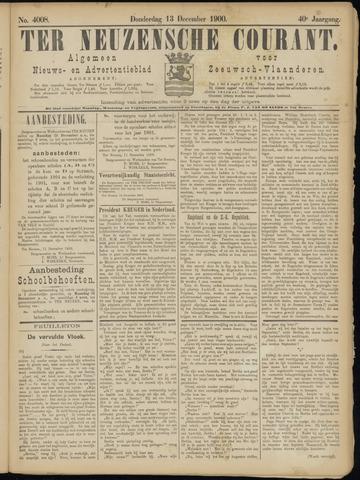 Ter Neuzensche Courant. Algemeen Nieuws- en Advertentieblad voor Zeeuwsch-Vlaanderen / Neuzensche Courant ... (idem) / (Algemeen) nieuws en advertentieblad voor Zeeuwsch-Vlaanderen 1900-12-13