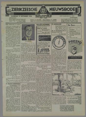 Zierikzeesche Nieuwsbode 1936-09-19
