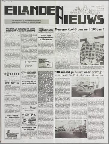 Eilanden-nieuws. Christelijk streekblad op gereformeerde grondslag 2000-09-01