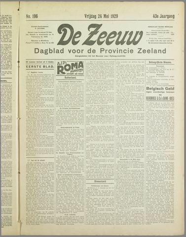 De Zeeuw. Christelijk-historisch nieuwsblad voor Zeeland 1929-05-24