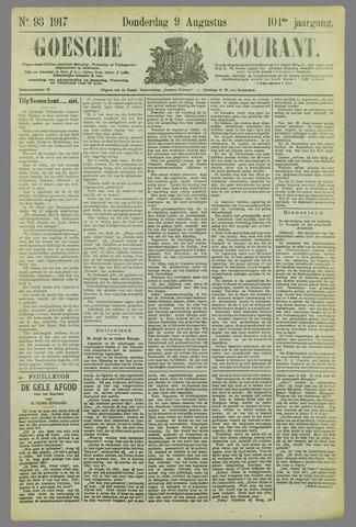 Goessche Courant 1917-08-09