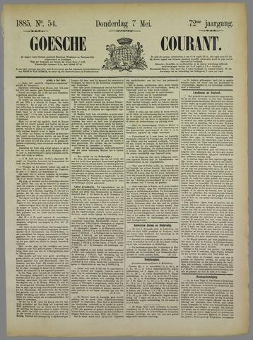 Goessche Courant 1885-05-07