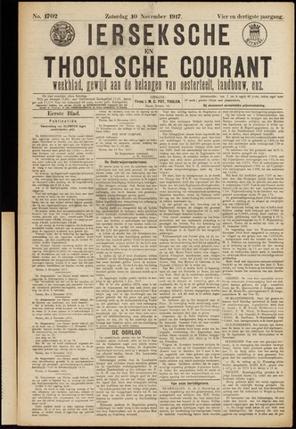 Ierseksche en Thoolsche Courant 1917-11-10