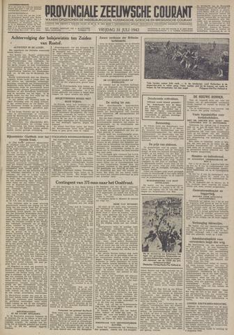 Provinciale Zeeuwse Courant 1942-07-31
