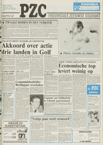 Provinciale Zeeuwse Courant 1984-06-12