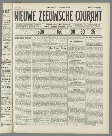 Nieuwe Zeeuwsche Courant 1915-08-03