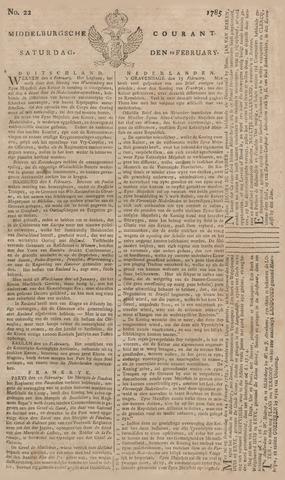 Middelburgsche Courant 1785-02-19