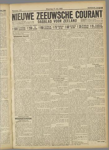 Nieuwe Zeeuwsche Courant 1922-07-17