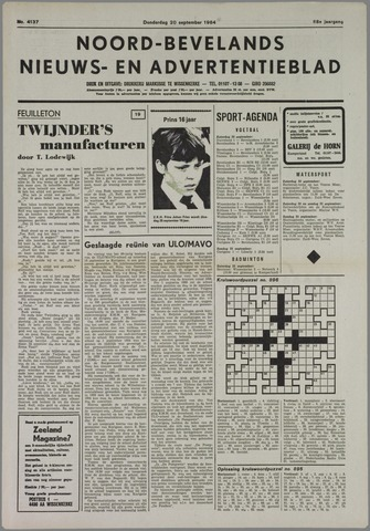 Noord-Bevelands Nieuws- en advertentieblad 1984-09-20