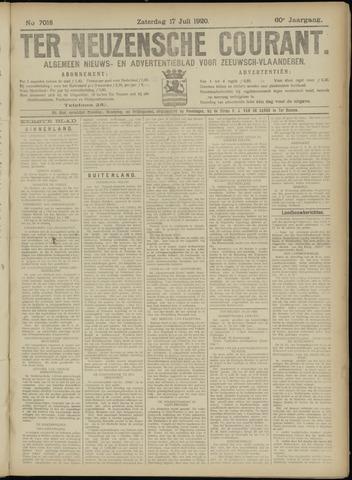 Ter Neuzensche Courant. Algemeen Nieuws- en Advertentieblad voor Zeeuwsch-Vlaanderen / Neuzensche Courant ... (idem) / (Algemeen) nieuws en advertentieblad voor Zeeuwsch-Vlaanderen 1920-07-17