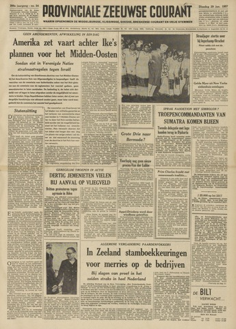 Provinciale Zeeuwse Courant 1957-01-29