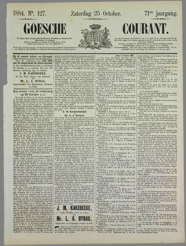 Goessche Courant 1884-10-25