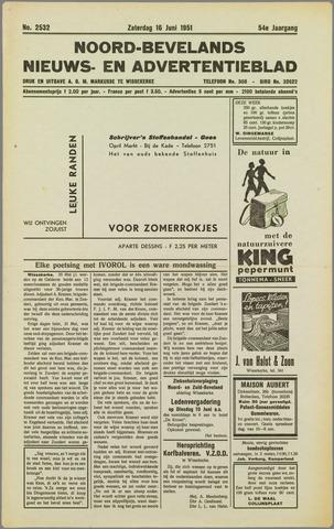 Noord-Bevelands Nieuws- en advertentieblad 1951-06-16