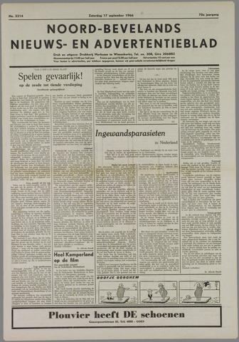Noord-Bevelands Nieuws- en advertentieblad 1966-09-17