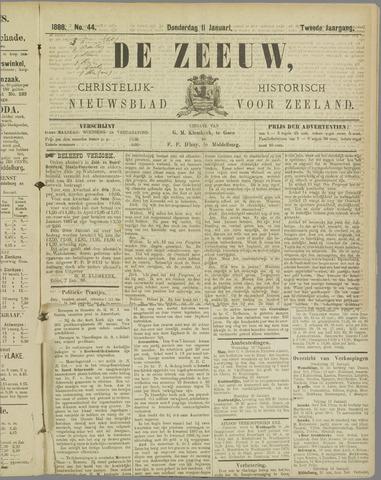 De Zeeuw. Christelijk-historisch nieuwsblad voor Zeeland 1888-01-11