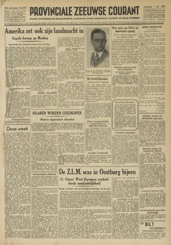 Provinciale Zeeuwse Courant 1950-07-01
