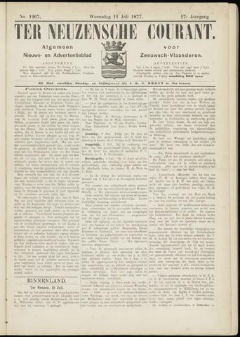 Ter Neuzensche Courant. Algemeen Nieuws- en Advertentieblad voor Zeeuwsch-Vlaanderen / Neuzensche Courant ... (idem) / (Algemeen) nieuws en advertentieblad voor Zeeuwsch-Vlaanderen 1877-07-11