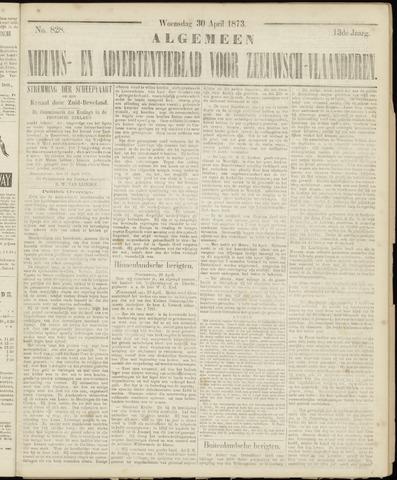 Ter Neuzensche Courant. Algemeen Nieuws- en Advertentieblad voor Zeeuwsch-Vlaanderen / Neuzensche Courant ... (idem) / (Algemeen) nieuws en advertentieblad voor Zeeuwsch-Vlaanderen 1873-04-30