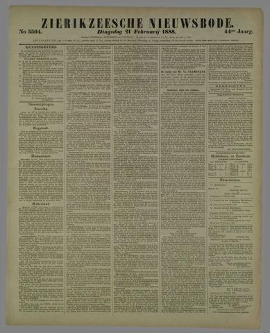 Zierikzeesche Nieuwsbode 1888-02-21