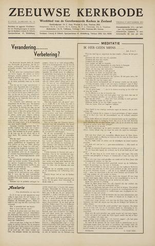 Zeeuwsche kerkbode, weekblad gewijd aan de belangen der gereformeerde kerken/ Zeeuwsch kerkblad 1955-09-09