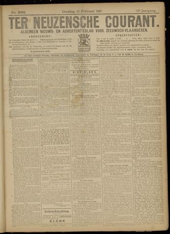 Ter Neuzensche Courant. Algemeen Nieuws- en Advertentieblad voor Zeeuwsch-Vlaanderen / Neuzensche Courant ... (idem) / (Algemeen) nieuws en advertentieblad voor Zeeuwsch-Vlaanderen 1917-02-13