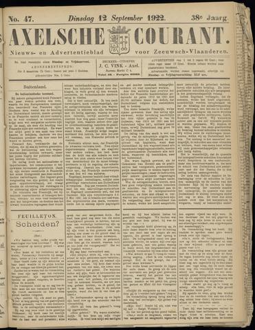 Axelsche Courant 1922-09-12