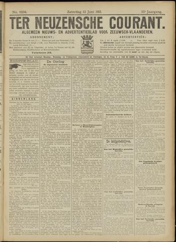 Ter Neuzensche Courant. Algemeen Nieuws- en Advertentieblad voor Zeeuwsch-Vlaanderen / Neuzensche Courant ... (idem) / (Algemeen) nieuws en advertentieblad voor Zeeuwsch-Vlaanderen 1915-06-12