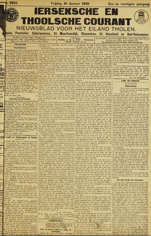 Ierseksche en Thoolsche Courant 1929-01-18
