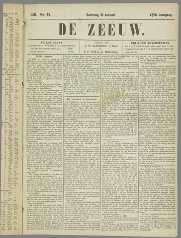 De Zeeuw. Christelijk-historisch nieuwsblad voor Zeeland 1891-01-10