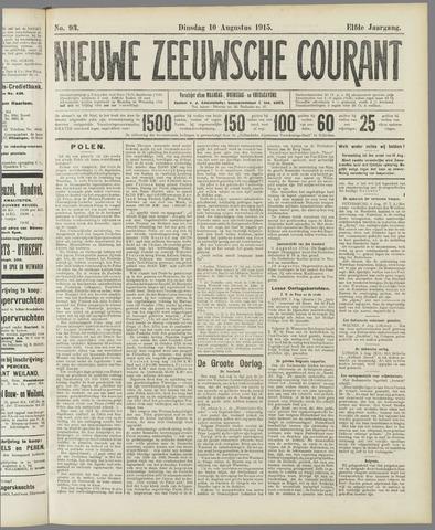 Nieuwe Zeeuwsche Courant 1915-08-10