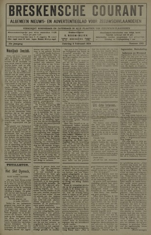 Breskensche Courant 1924-02-09