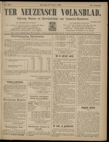 Ter Neuzensch Volksblad. Vrijzinnig nieuws- en advertentieblad voor Zeeuwsch- Vlaanderen / Zeeuwsch Nieuwsblad. Nieuws- en advertentieblad voor Zeeland 1917-10-27