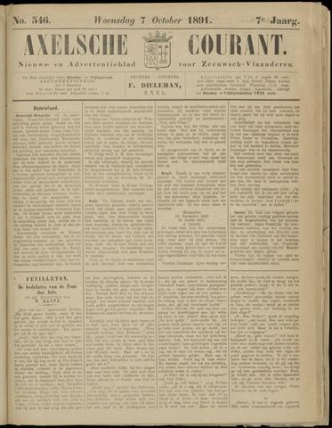 Axelsche Courant 1891-10-07