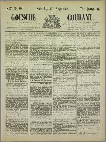 Goessche Courant 1887-08-20