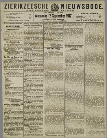 Zierikzeesche Nieuwsbode 1917-09-12